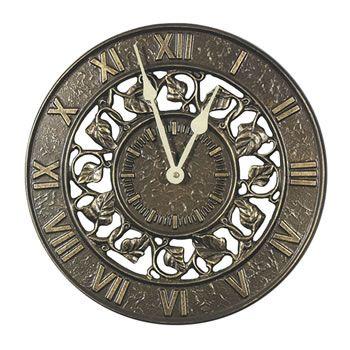 Ivy Silhouette Indoor/Outdoor Wall Clock French Bronze