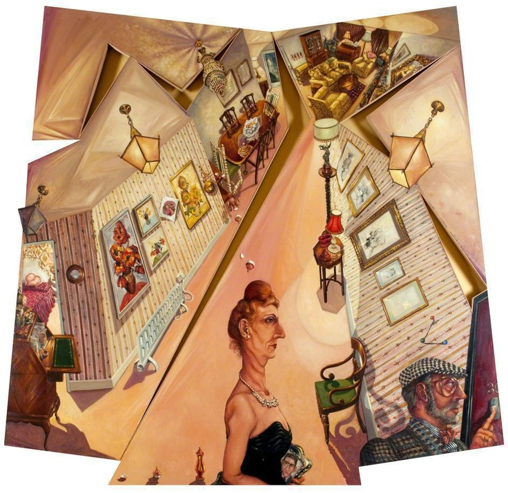 Anthony Green - Embassy Lodge, The Visit, 1990, Oil on Wood