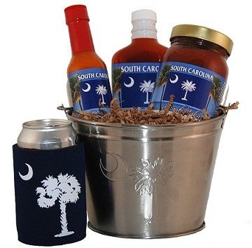 South Carolina Palmetto Moon Tailgate Grilling Gift Basket. from @giftprose