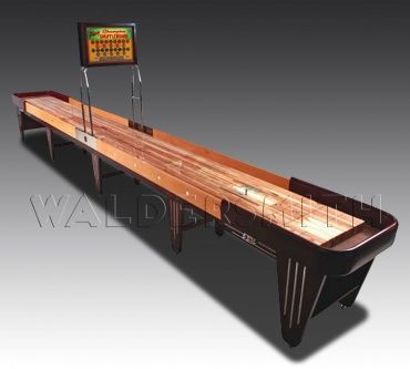 The Texan-made Charleston is a highly-sought prize by the most avid of Shuffleboard players. Intertwining fantastic game-play with a detailed history, this table is build from maple wood, and is a vintage reproduction of one of the original Shuffleboard tables produced in the 1940s. View more here > http://www.gamesroomcompany.com/Product_Catalogue/Shuffleboard/Shuffleboard_Tables/Charleston_Shuffleboard_11997