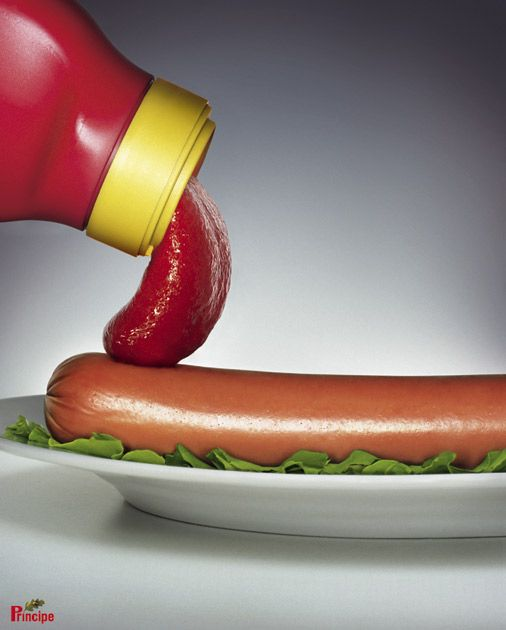 Ketchup Principe | #ads #marketing #creative #werbung #print #advertising #campaign < repinned by www.BlickeDeeler.de | Follow us on www.facebook.com/blickedeeler