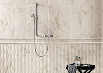 BagnoIdea.com - Pavimenti e rivestimenti effetto marmo Roma - Calacatta Greca - Pavimenti e rivestimenti bagno Fap Ceramiche