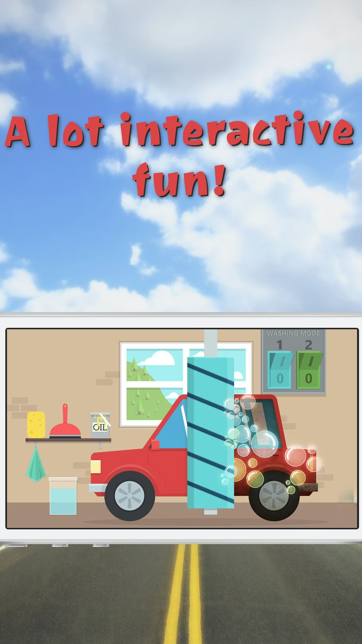 Wash your car and have fun! See the update of Kids Toy Car simulator.