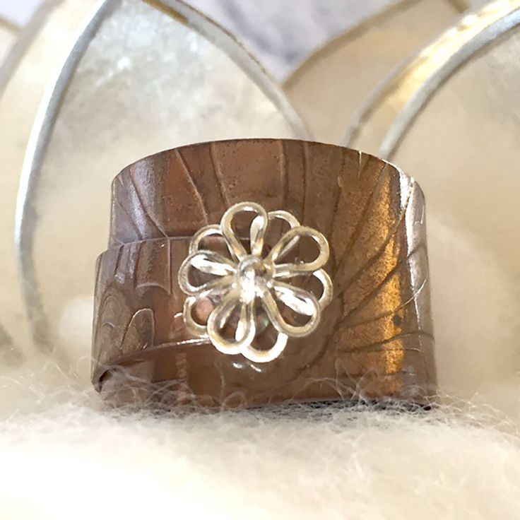 Autumn Daisy Adjustable Ring by TLHinspired on Etsy https://www.etsy.com/au/listing/277537042/autumn-daisy-adjustable-ring