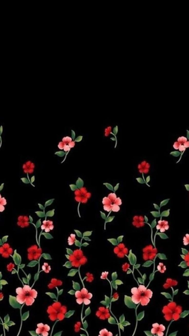 Floral Wallpapers Iphone Android Black Flowers Wallpaper Flowery Wallpaper Floral Wallpaper Phone