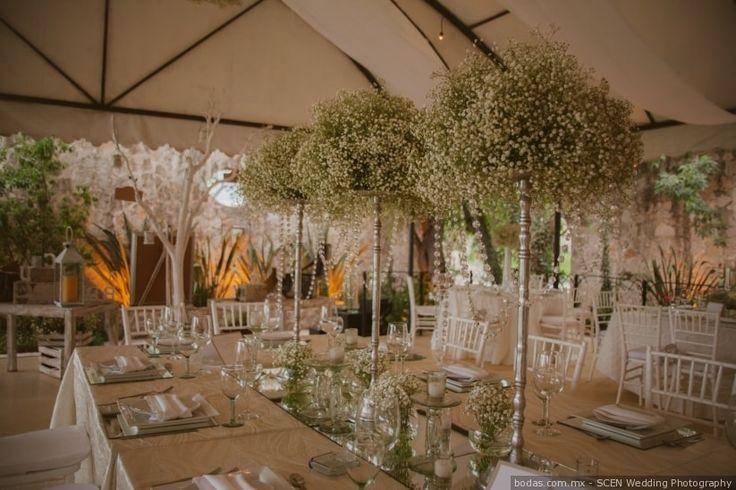Centros de mesa altos  #wedding #bodas #centerpiece #decoracion