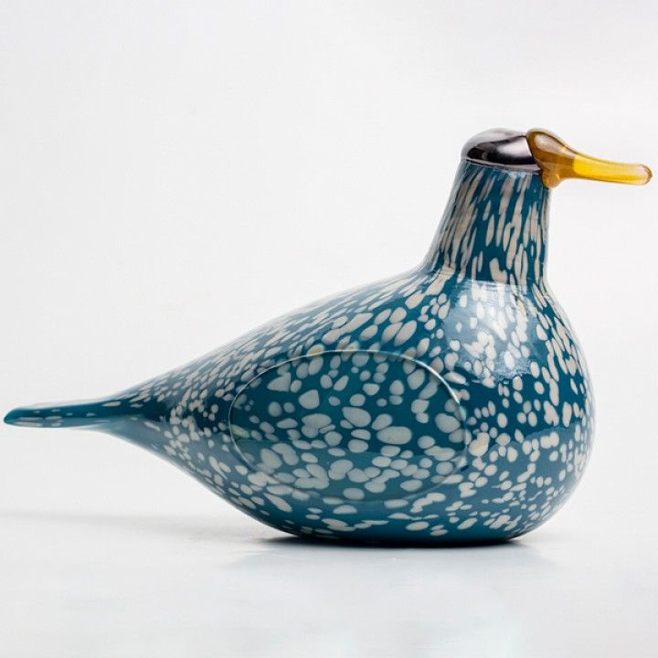 "Oiva Toikka, 2016, iittala, Blue Goose, one of a kind, blown in Corning Museum of Glass Approx. 7"" H. x 12"" L."