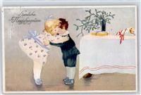Neujahr Kind Kuss Preissenkung