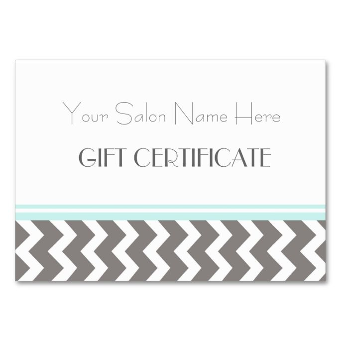 9 best gift certificate images on Pinterest