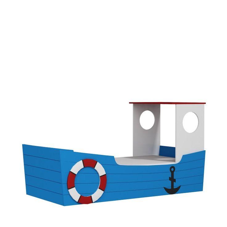 Pronti a salpare con il letto sagomato Oceano destinazione fantasia!  http://www.lettiniecamerette.it/it/21/lettooceanosagomatoabarca.htm