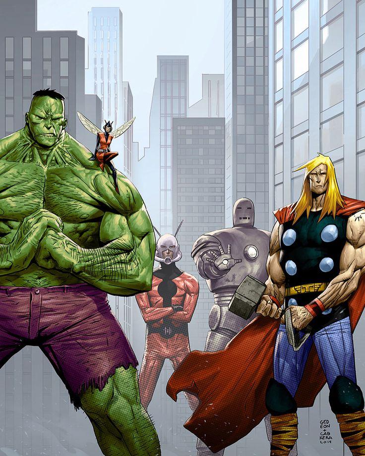 "1,532 Likes, 6 Comments - Antman616 (@rogue_comics_) on Instagram: ""Art: <Juan Gedeon> #avengers#hulk#thor#ironman#hellboy#joker#antman#punisher#venom…"""