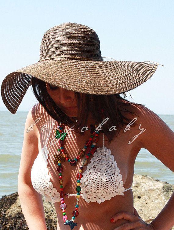 BIKINIS de ganchillo clásico personalizado por por beijobaby, $130.00
