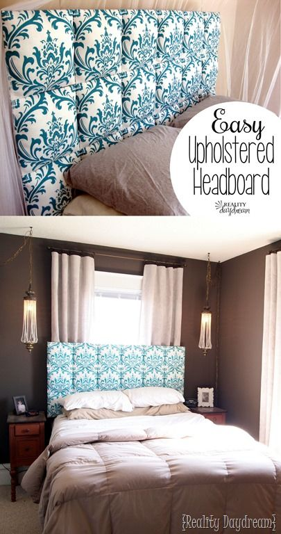 EASY upholstered headboard... no upholstering skills required! {Reality Daydream}