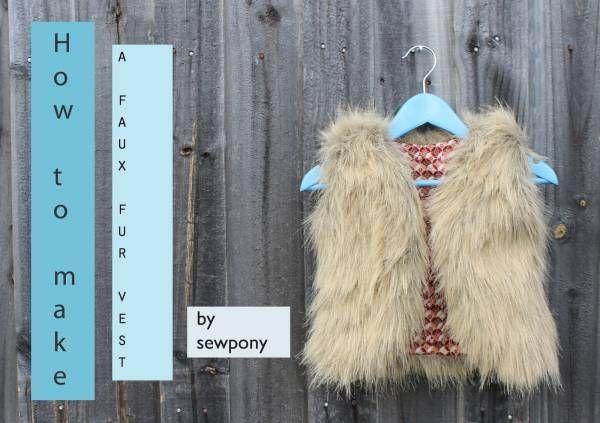gilet fausse fourrure DIY : une veste en fausse fourrure pour enfant