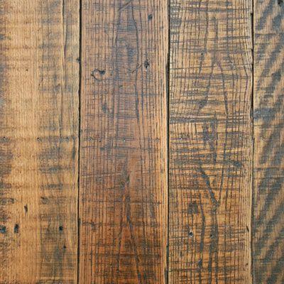 Hand scraped and distressed hardwood.  Rustic look                                                                                                                                                                                 More