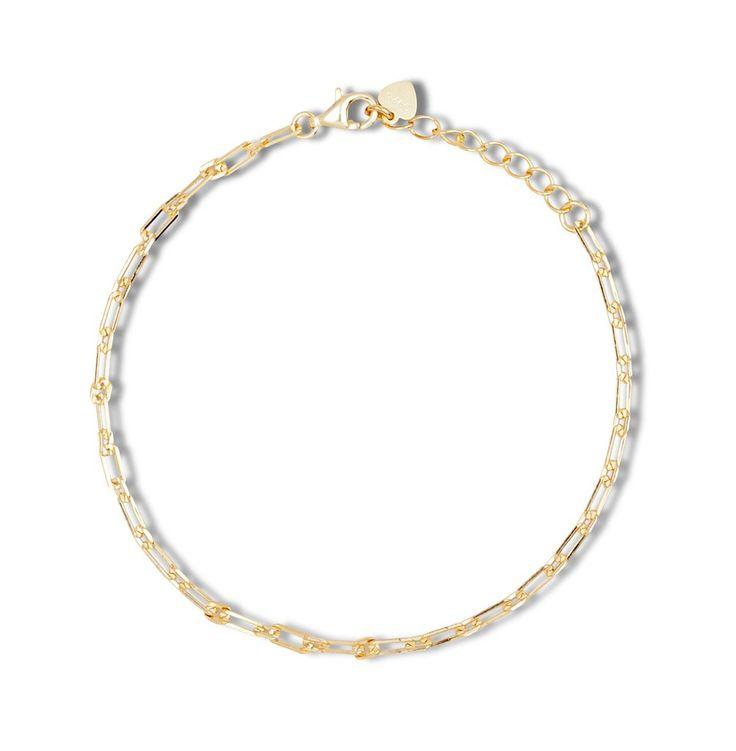 Links chain bracelet gold vermeil