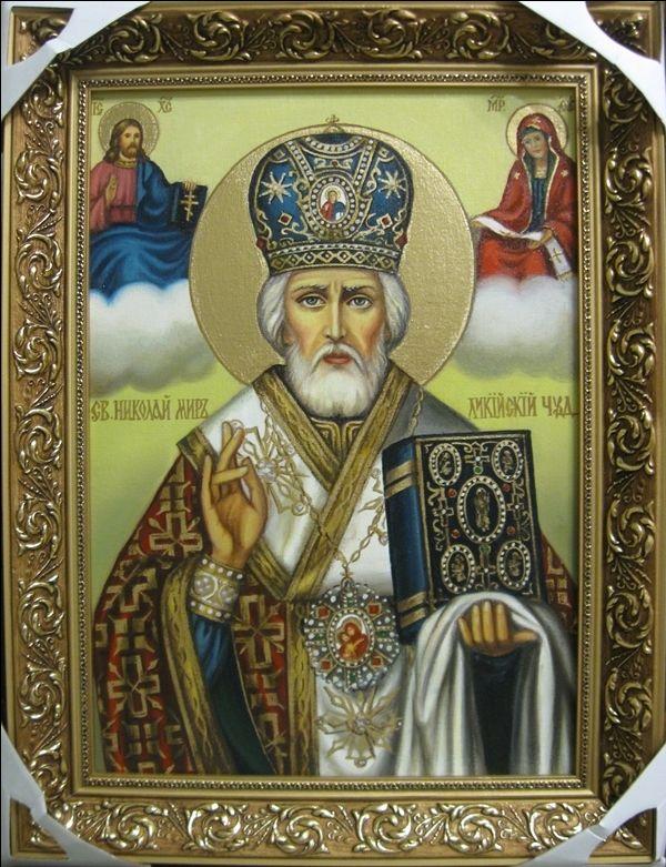 Св.Николай чудотворец (холст,масло,30х40)-художник Ядвига Сенько