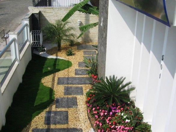 pedra miracema jardim:Chapa Grama de Miracema, com jardim! Passagem lateral. More
