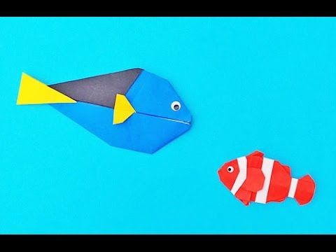 【折紙(origami)】カクレクマノミ(2) Clownfish(2) - YouTube