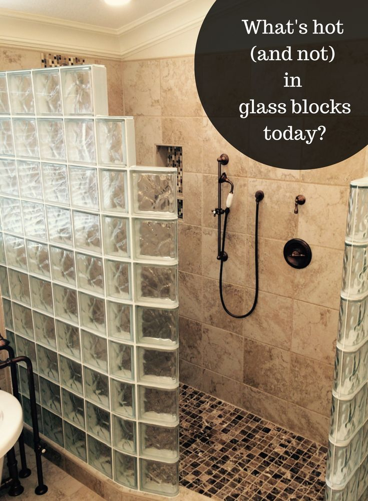 267 best Glass Block Showers images on Pinterest
