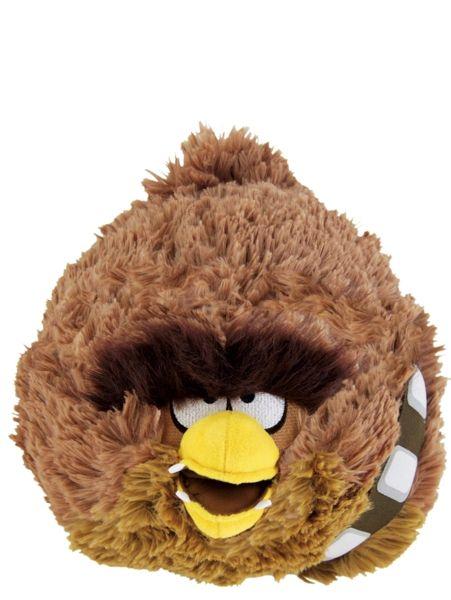 Angry Birds Chewbacca -pehmo (30 cm)  Han Solon apuri Chewbacca valloittaa hauskana Angry Birds Star Wars -pehmona. Hahmon korkeus on n. 30 cm. Käsinpesu.