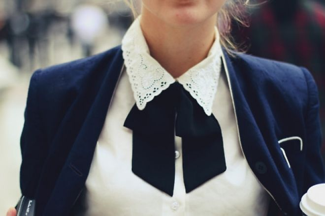 The buttoned up collar