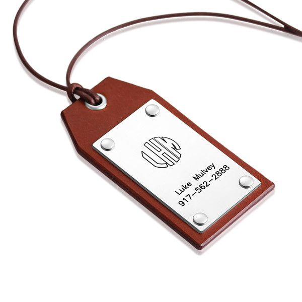 Other – Personalize Block Monogram Leather Luggage tag – a unique product by aimeecreative on DaWanda