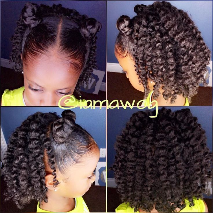 RyLei Kai's #HOTD Two-Strand Twistout w/Bantu Knots ➰ I pulled out an oldie but goodie ...the @curlykidshaircare Frizz Control Paste to knock down on frizz this foggy morning. I also used the @curlykidshaircare Curly Gel Moisturizer & Curly Creme Moisturizer ...then a little @curlychichaircare Coconut For Curls oil for some shine ☀️⭐️ I just LOVE the definition in her curls ☺️