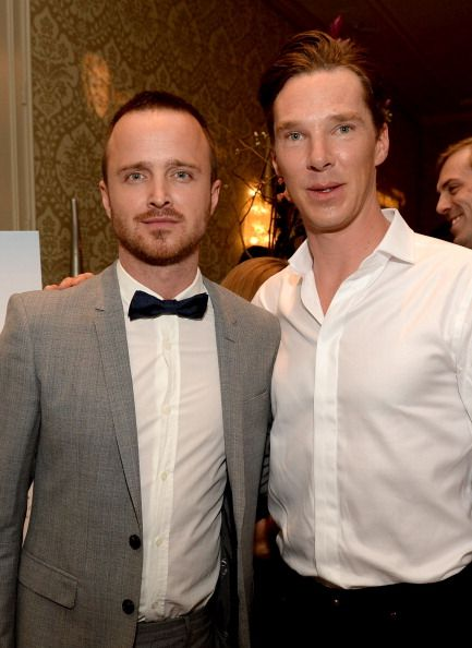 Aaron Paul & Benedict Cumberbatch. I just want to know how this picture happened.