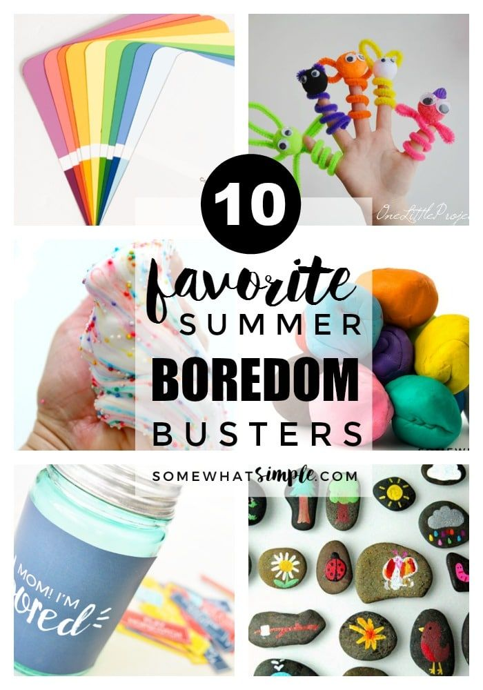 Summer Boredom Busters - Need a few more ideas to keep your kids entertained while school is out? Here are some of our favorite summer boredom busters!