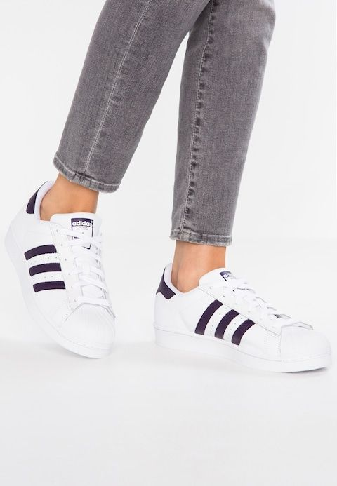 SUPERSTAR - Trainers - footwear white/legend purple ...