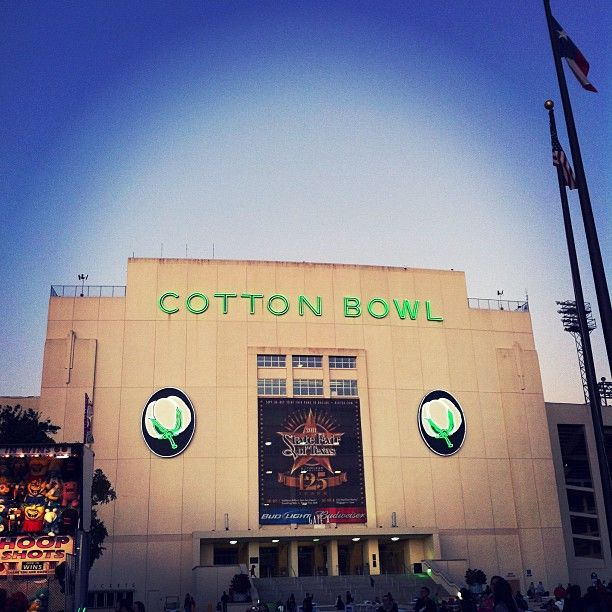 The Cotton Bowl. Nothing like it. Miss you, Big Tex.