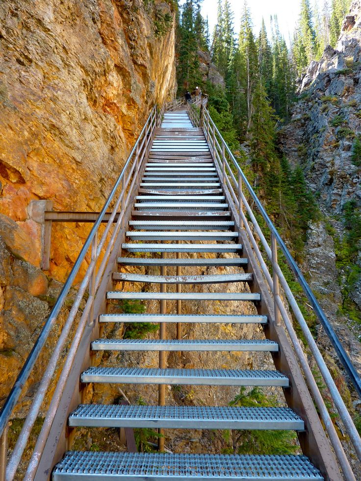 Uncle Tom's Trail, Yellowstone National Park Though it's not a trail in the most traditional sense of the word, and is really just a series of sturdy metal steps (328 total),