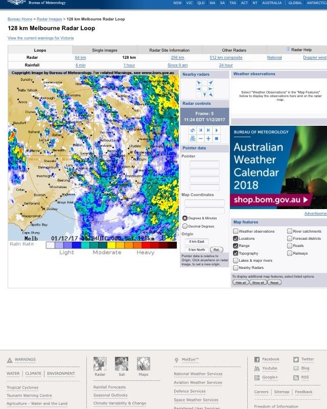 Bom Melbourne Melbourne Weather Radar is Trending on Tuesday