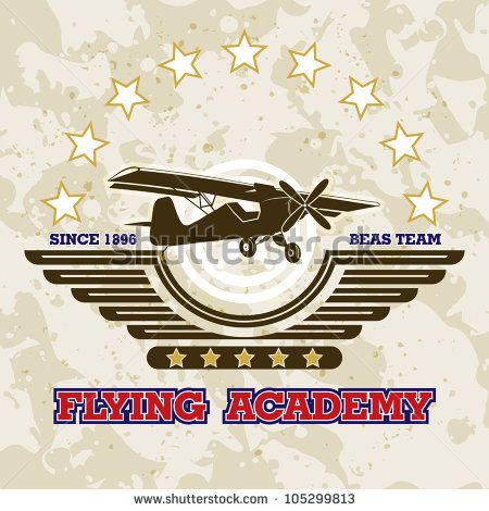 Vector airplane / Flying  Academy Emblems - stock vector
