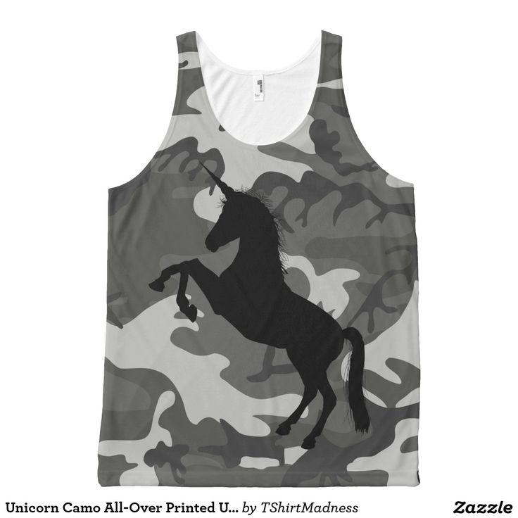Unicorn Camo All-Over Printed Unisex Tank, M