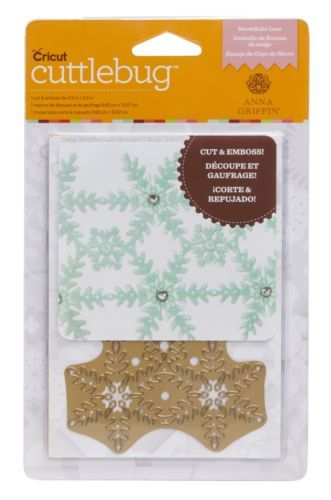 Cuttlebug A2 Snowflake Lace Cut & Emboss Die by Anna Griffin - Brand New