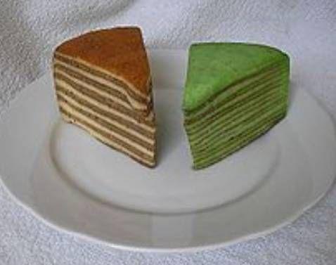 Orginele spekkoek. ''In het oorspronkelijke spekkoek recept werden de laagjes gekleurd met bruine suiker voor de donkere laagjes en geraffineerde witte suiker voor de lichte...''