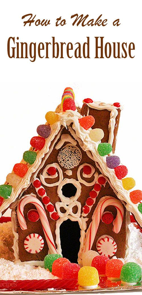 How to make a homemade gingerbread house! Get in the holiday spirit with this fun family project. #Christmas #Gingerbread #GingerbreadHouse #Holiday #holidays