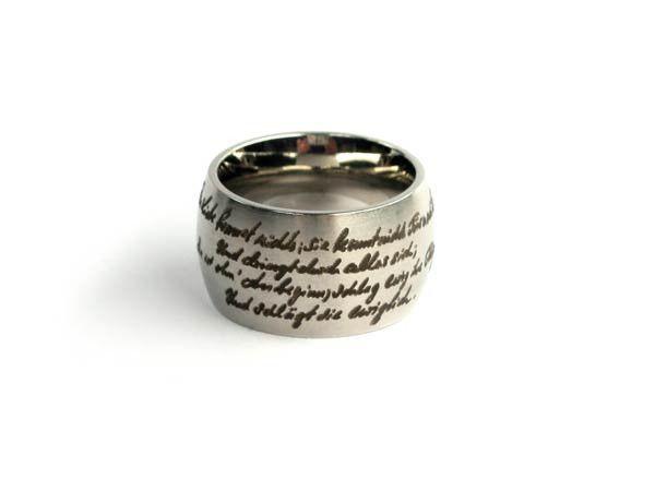 Ring zitiert Liebe