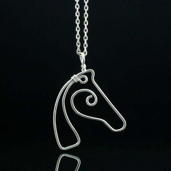 Sterling zilveren Paard hanger ketting gratis door AnniDesignsllc