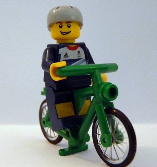 Team GB Olympic lego minifig, cyclist