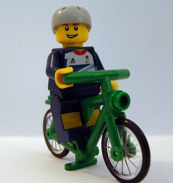 Team GB Olympic lego minifig, cyclist