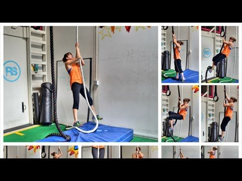 How To Climb a Rope - 11 Rope Climb Variations - YouTube