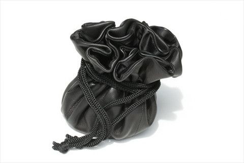 draw string jewellery pouch - black