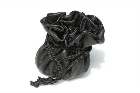 draw string jewellery pouch - black