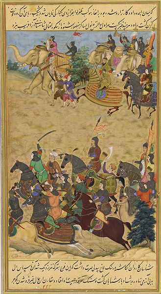 Young Akbar assumed the title Badshah Ghazi after leading a Mughal Army of 10,000 during the Second Battle of Panipat, against more than 30,000 mainly Hindu adversaries led by Hemu. 1526-1856 Mughal dynasty