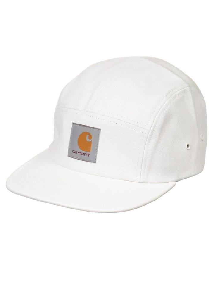 Carhartt Backley 5 Panel Hat - Snow - Hat Shop from Fat Buddha Store UK
