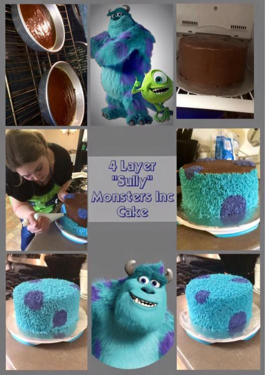 """""""Sully"""" Monsters Inc Cake"""