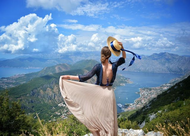 Ninelly: With Love from Montenegro Fashion blogger from Russia photoshoot in Lovcen Montenegro